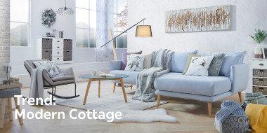 Modern Cottage Wohnlandschaft grau