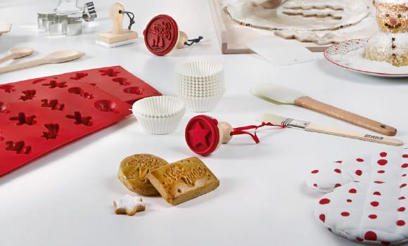 Winter days Backen Backspaß Kekse Rot Weiß Küchenutensilien Küche Weihnachten