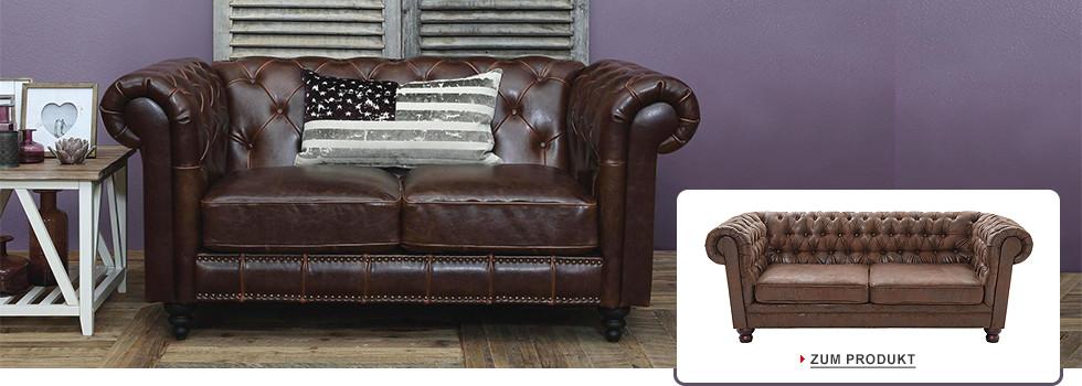 chesterfield sofa textil braun