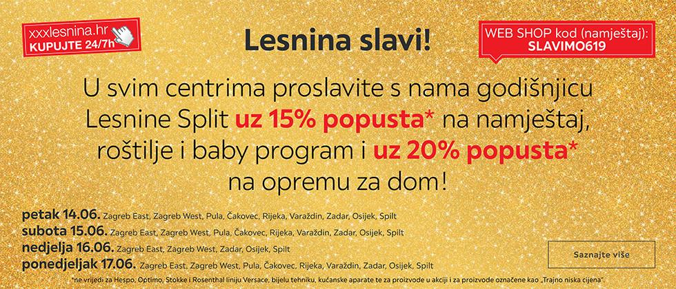 Proslavite godišnjicu Lesnine Split uz popuste