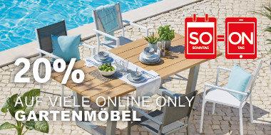 20% auf viele  Online Only Gartenartikel