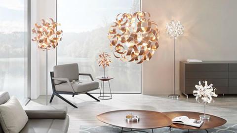 Moderne LED-Beleuchtung im Wohnzimmer