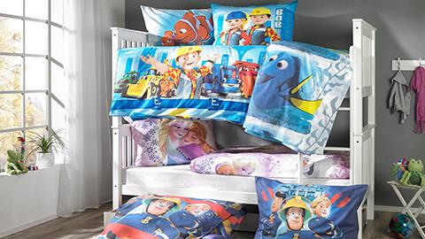 Kinderbettwäsche mit Disney Motiven.