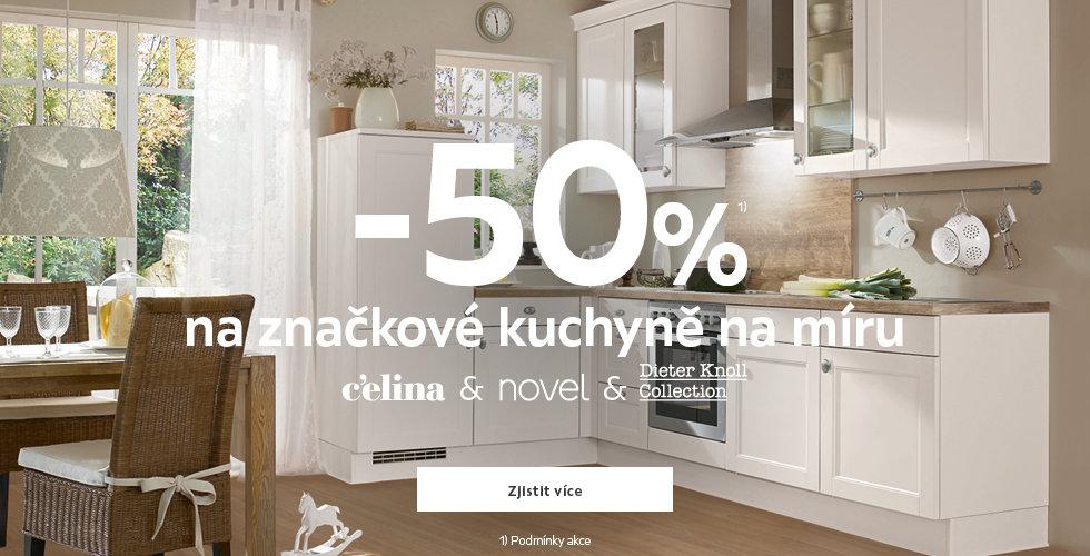 50% na značkové kuchyně na míru