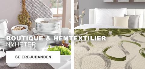 Boutique och Hemtextilier Nyheter