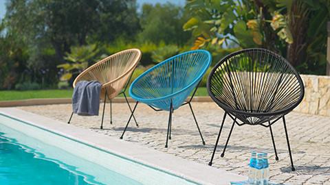 Gartenstühle aus Stahlrohr