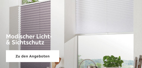 Modischer Licht- & Sichtschutz