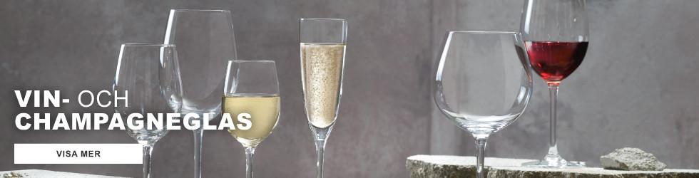 Vin och Champagneglas
