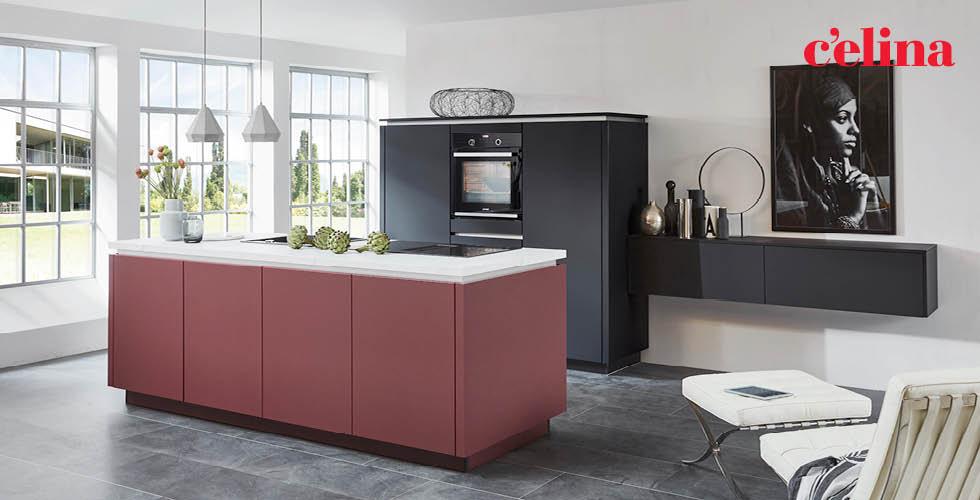 Kuhinja Celina ružičasto crne varijante