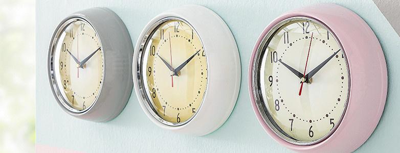 Uhren grau weiß rosa