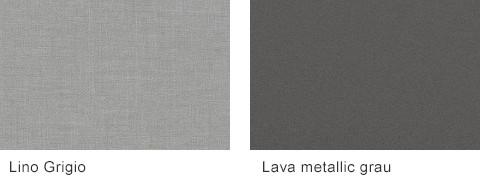 Set One by Musterring Elba Frontfarben Lino Grigio Lava metallic grau