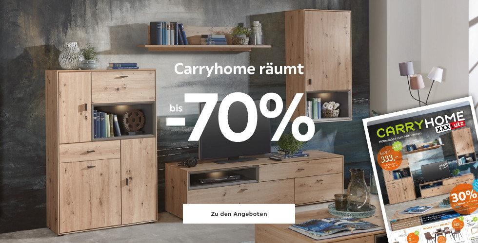 Carryhome räumt bis -70%