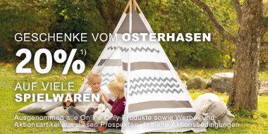 Geschenke vom Osterhasen 20% auf viele Spielwaren