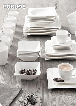 bijeli servis za jelo