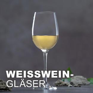 Weissweinglaeser ansehen