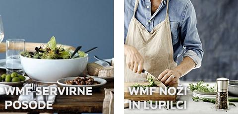 WMF servirne posode ter noži in lupilci