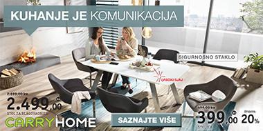 Moderan bijeli stol za blagovaonicu i stolice Lesnina XXXL