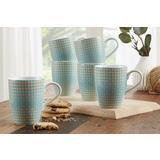 Plavo-bijele keramičke šalice za kavu