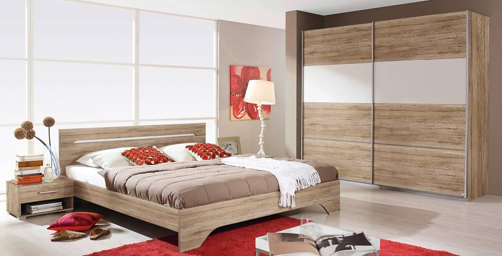 Drveno bijela spavaća soba u Lesnini