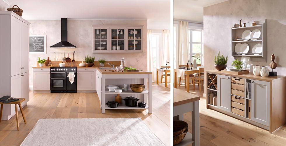 Küche Im Landhausstil Und Erdton