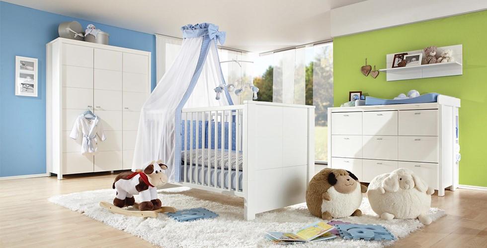 Babyzimmerset blau mit Spielzeug