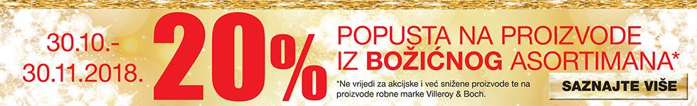 20% popust božićni asortiman Lesnina XXXL