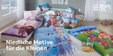 Niedliche Motive für die Kleinen: Bettwäsche