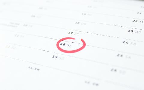 Kalender mit Markierung
