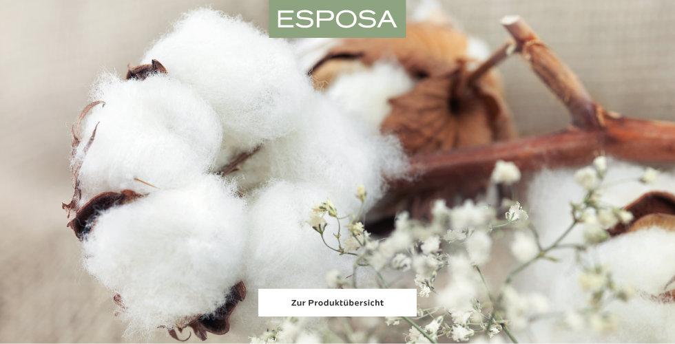 Esposa Wohntextilien Baumwolle Weiß Braun