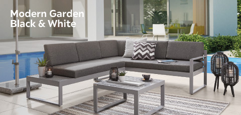 Modern Garden black white