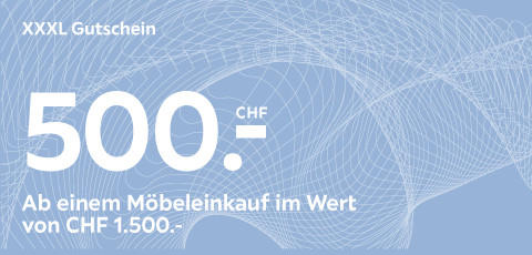 XXXL Gutschein im Wert von 500.- CHF auf Möbel