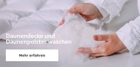Daunendecke und Daunenpolster waschen