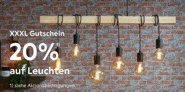 20% auf Leuchten