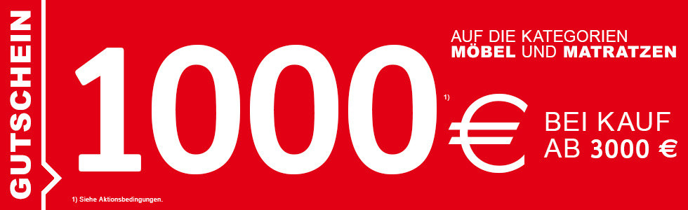 1000 Euro geschenkt bei Kauf ab 3000 Euro