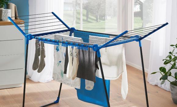 Frühjahrsputz Haushalt Wäscheständer
