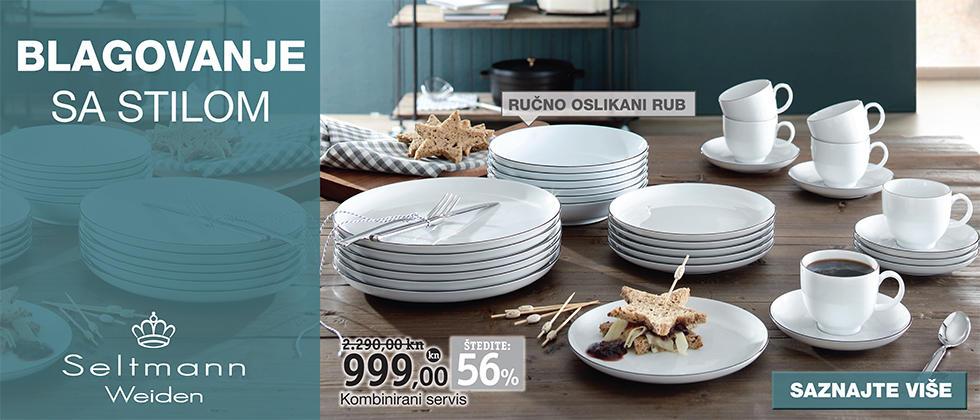 Moderan i kvalitetan kombinirani servis za jelo XXXL Lesnina