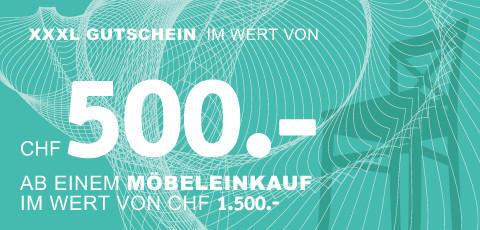 CHF 500.- sparen!
