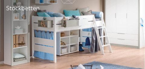 Paidi Stockbetten Blau Weiß