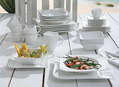 Elegantan servis za jelo bijele boje Lesnina XXXL