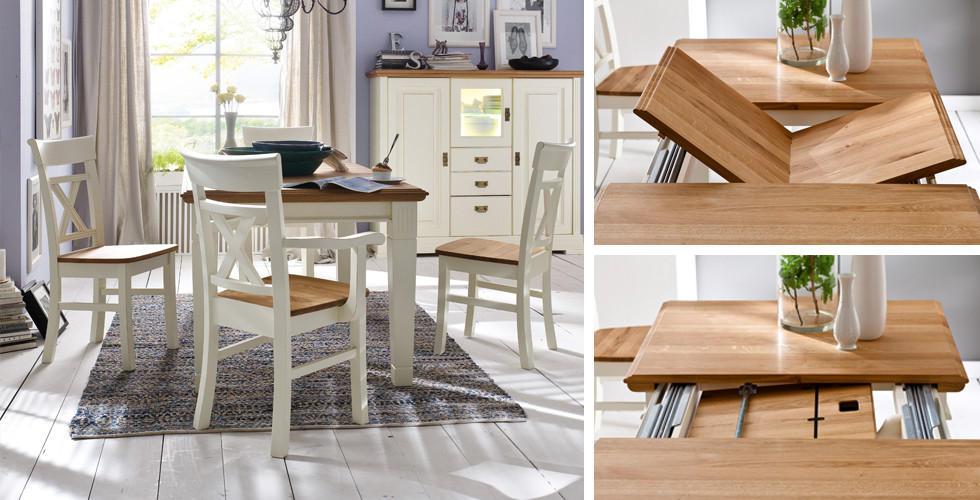 Jídelní stůl se synchronním výsuvem v XXXLutz.