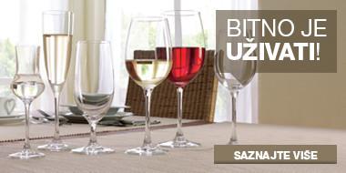 Čaše Schott Zwiesel za vino, pivo i rakiju