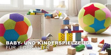 Baby- und Kinderspielzeug für jedes Alter