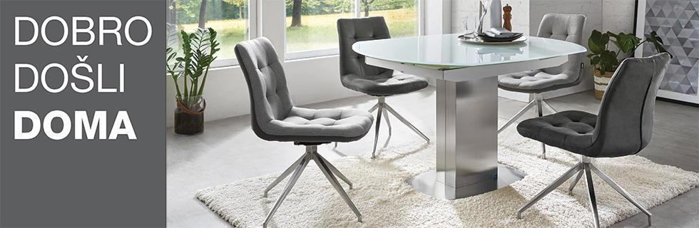 Elegantan i moderan stol za blagovaonicu i stolice XXXL Lesnina