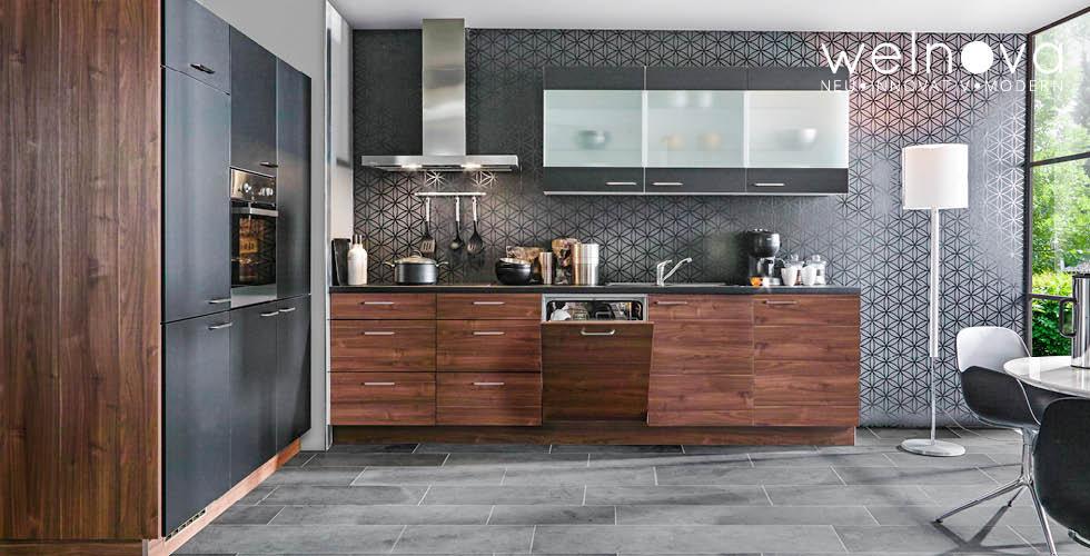 Sivo smeđa kuhinja Welnova