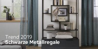 Trend 2019: Schwarze Metallregale