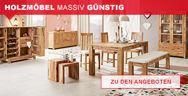 Holzmöbel massiv günstig