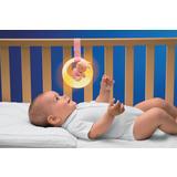 Dječje okruglo svjetlo u obliku mjeseca i mala beba