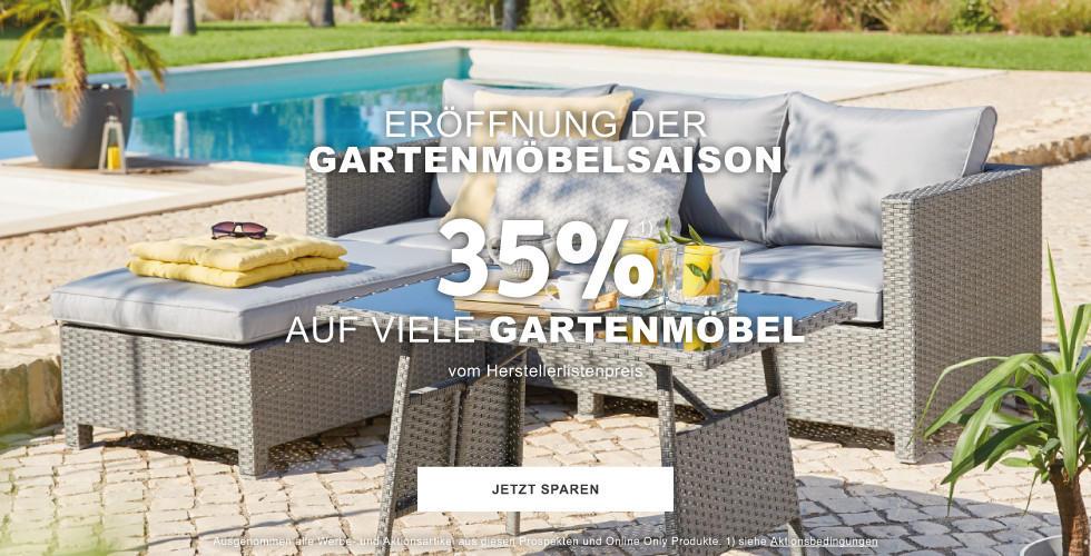 Eröffnung der Gartenmöbelsaison 35% auf viele Gartenmöbel