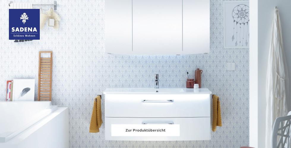 Sadena Badezimmer Bad Weiß Hochglanz