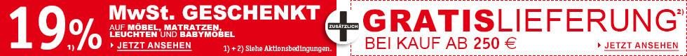 19% MwSt geschenkt + Gratis Lieferung ab 250€